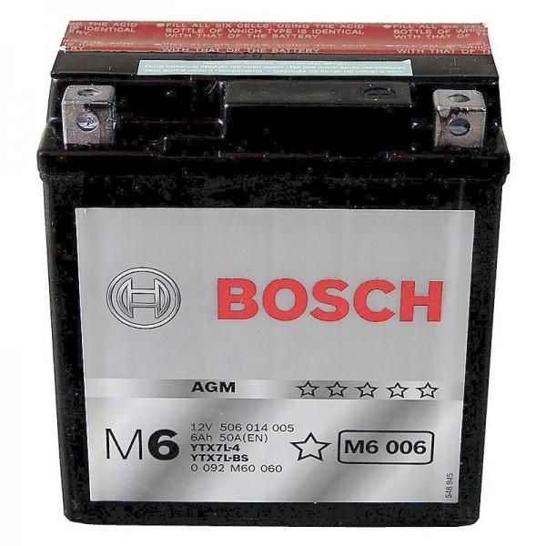 BOSCH M6 006 MC AGM 12 V 6 Ah 50 A 3 114x71x131