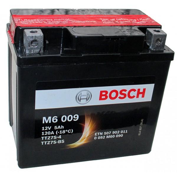BOSCH M6 009 MC AGM 12 V 5 Ah 110 A 3 113x70x105