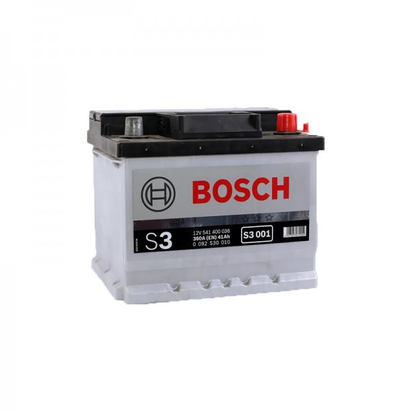 BOSCH S3 001 41 Ah 360 A 0 (- +) 207x175x175