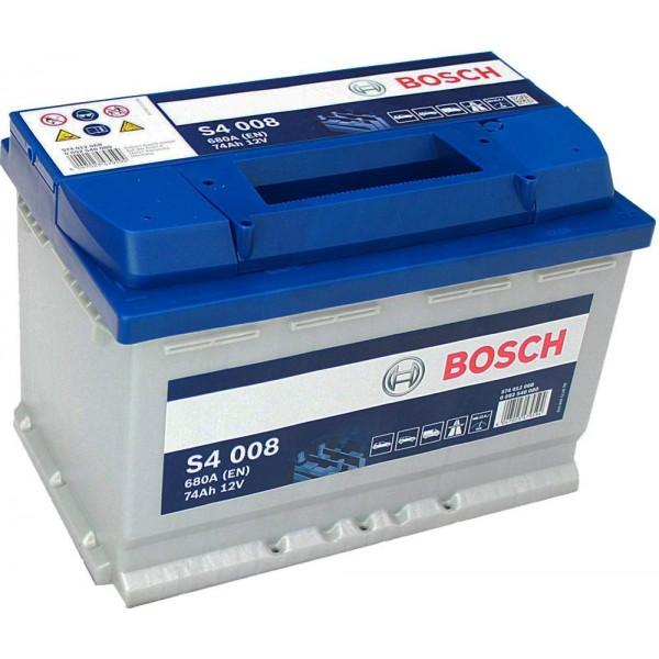 BOSCH S4 008 74 Ah 680 A 0 (- +) 278x175x190