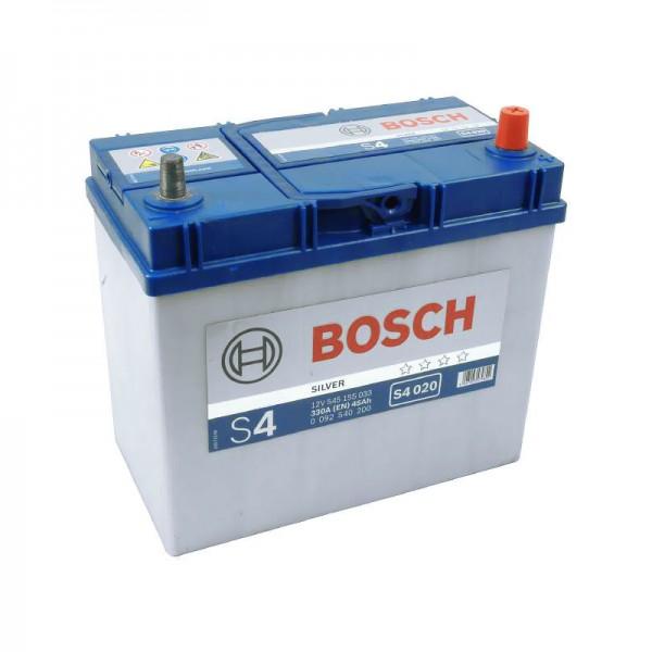 BOSCH S4 020 45 Ah 330 A 0 (- +) 238x129x227