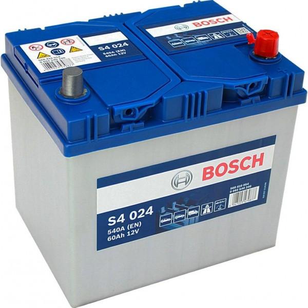 BOSCH S4 024 60 Ah 540 A 0 (- +) 232x173x225