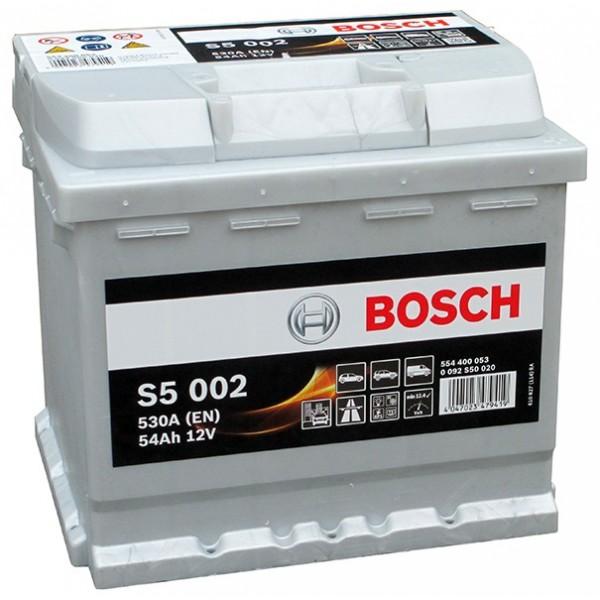 BOSCH S5 002 54 Ah 530 A 0 (- +) 207x175x190