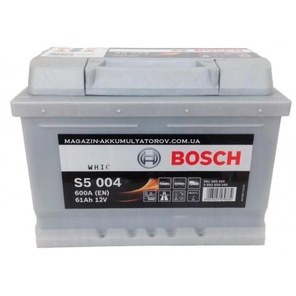 BOSCH S5 004 61 Ah 600 A 0 (- +) 242x175x175