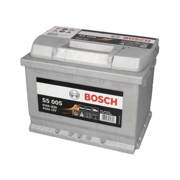 BOSCH S5 005 63 Ah 610 A 0 (- +) 242x175x190