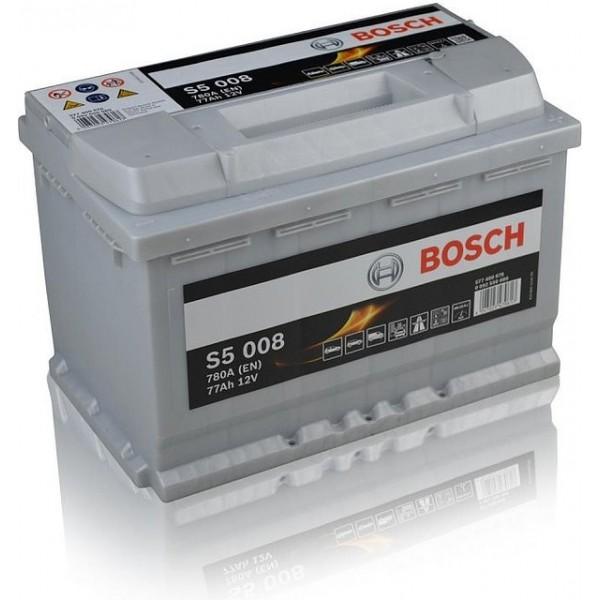 BOSCH S5 008 77 Ah 780 A 0 (- +) 278x175x190