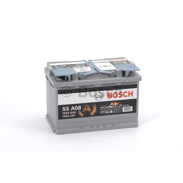 BOSCH S5 A08-AGM 70 Ah 760 A 0 (- +) 278x175x190