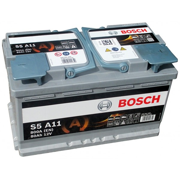 BOSCH S5 A11-AGM 80 Ah 800 A 0 (- +) 315x175x190