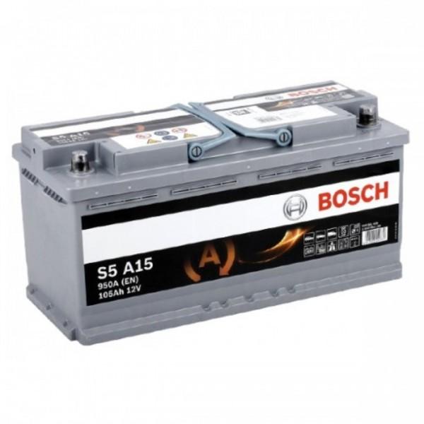 BOSCH S5 A15-AGM 105 Ah 950 A 0 (- +) 393x175x190