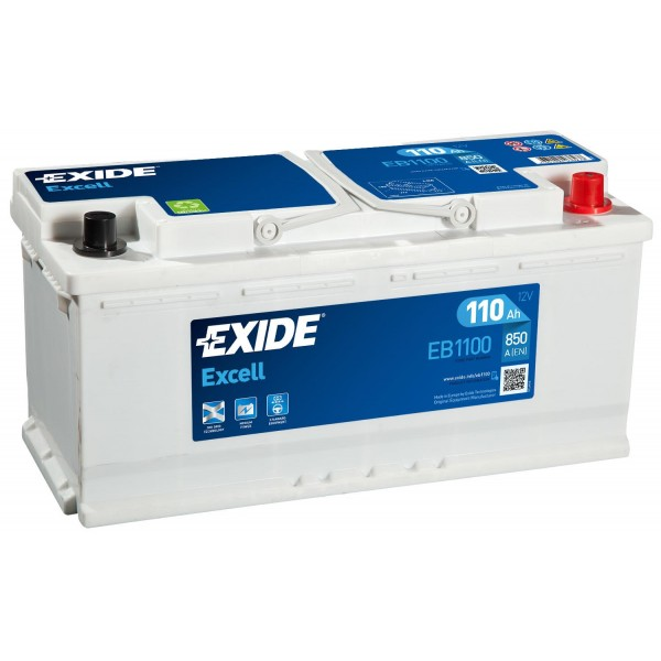EXIDE EB1100 EXCELL 110Ah 850A (- +) 394x175x190