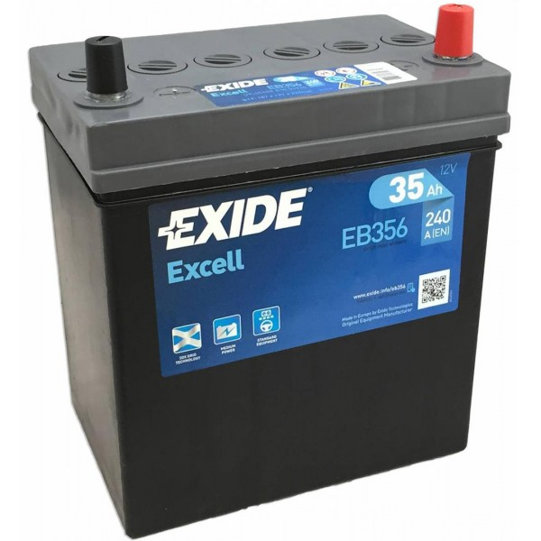 EXIDE EB356 EXCELL 35Ah 240A (- +) 187x127x220