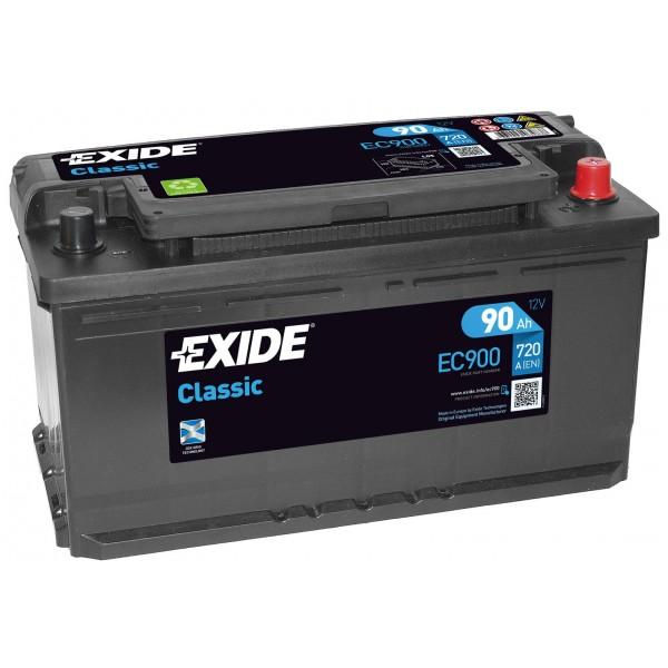 EXIDE EC900 CLASSIC 90Ah 720A (- +) 353x175x190