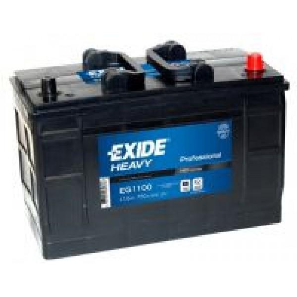 EXIDE EG1100  HD Professional 110Ah 750A (- +) 349x175x235