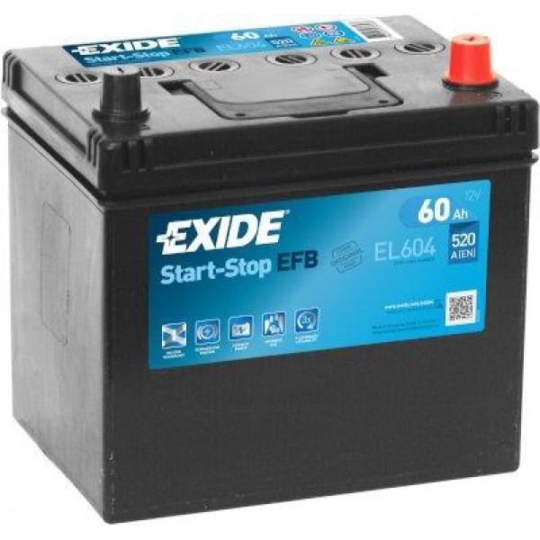 EXIDE EL604  ECM (EFB) 60Ah 520A (- +) 230x173x222