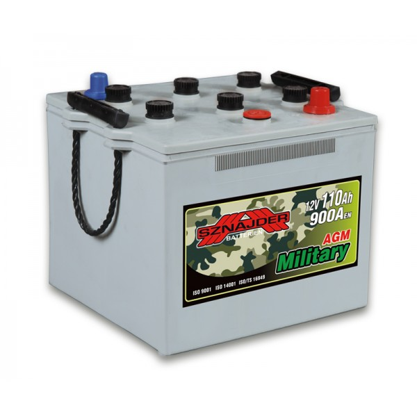 SZNAJDER 111 00 Military Battery 110 Ah 900 A    O(- +) 250x263x220