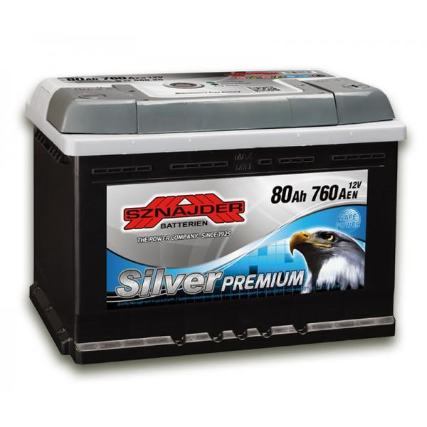 SZNAJDER 580 35 Silver Premium 80 Ah 760 A O(- +) 275x175x190