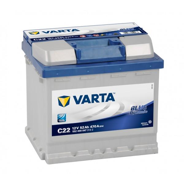 VARTA C22 52 Ah 470 A 0 (- +) 207x175x190