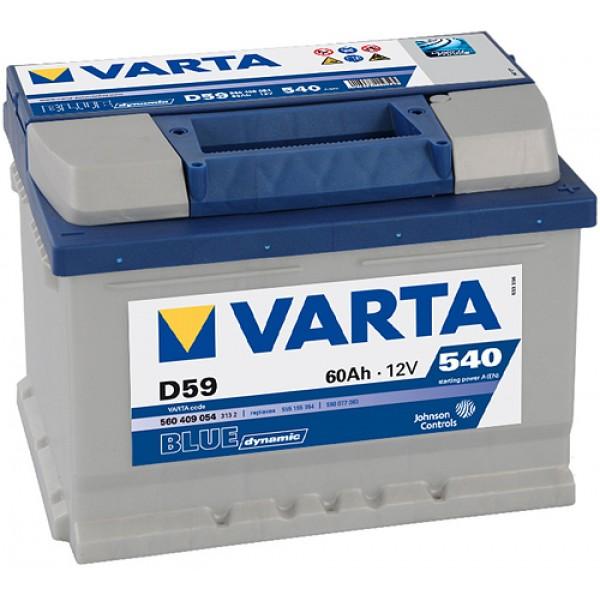 VARTA D59 60 Ah 540 A 0 (- +) 242x175x175
