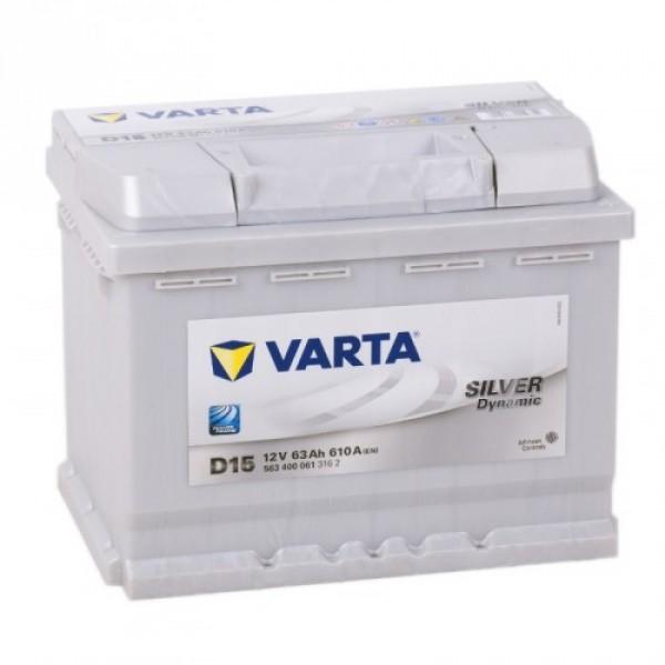 VARTA D15 63 Ah 610 A 0 (- +) 242x175x190