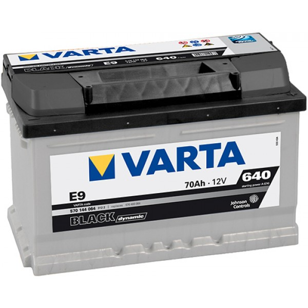 VARTA E9 70 Ah 640 A 0 (- +) 278x175x175