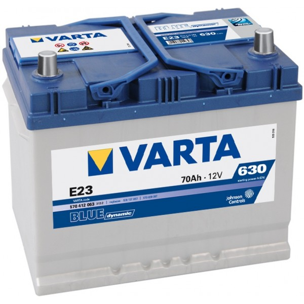 VARTA E23 70 Ah 630 A 0 (- +) 261x175x220