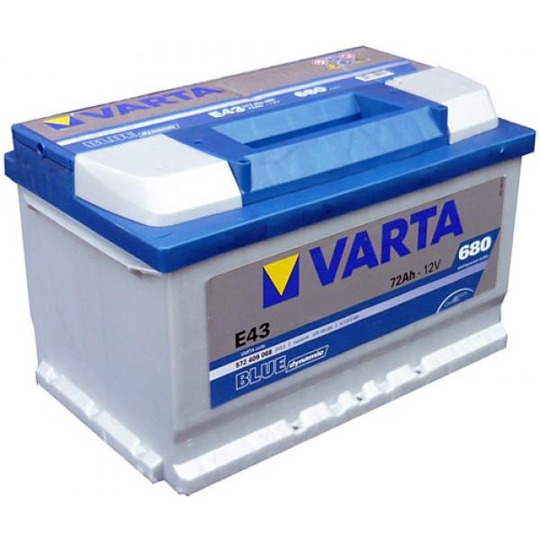 VARTA E43 72 Ah 680 A 0 (- +) 278x175x175