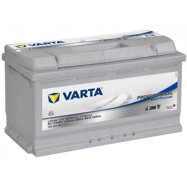 VARTA LFD90 90 Ah 800 A 0 (- +) 353x175x190