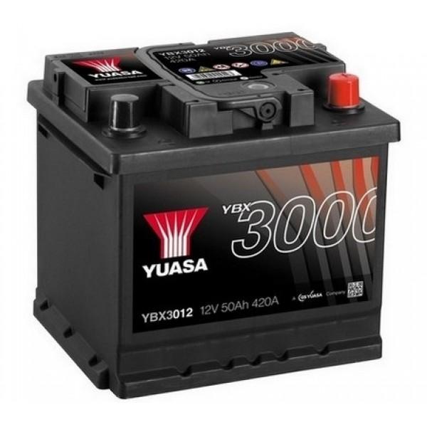 YUASA YBX3012 50Ah 420A SMF  0(- +) 207x175x190