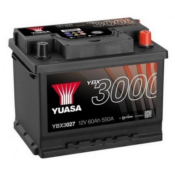 YUASA YBX3027 60Ah 550A SMF  0(- +) 243x175x190