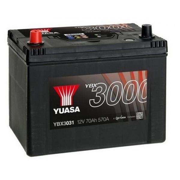 YUASA YBX3031 70Ah 570A SMF  1(+ -) 260x174x225