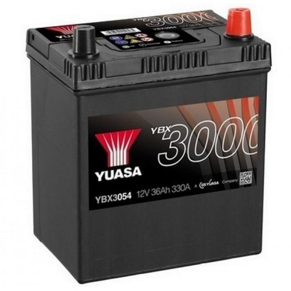 YUASA YBX3054 40Ah 330A SMF  0(- +) 187x127x223