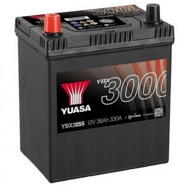 YUASA YBX3055 40Ah 330A SMF  1(+ -) 187x127x223