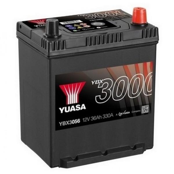 YUASA YBX3056 40Ah 330A SMF  0(- +) 187x137x225