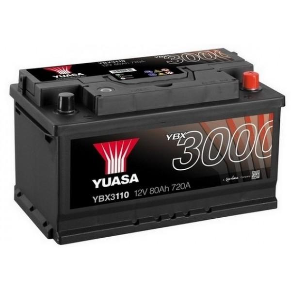 YUASA YBX3110 80Ah 720A SMF  0(- +) 317x175x175