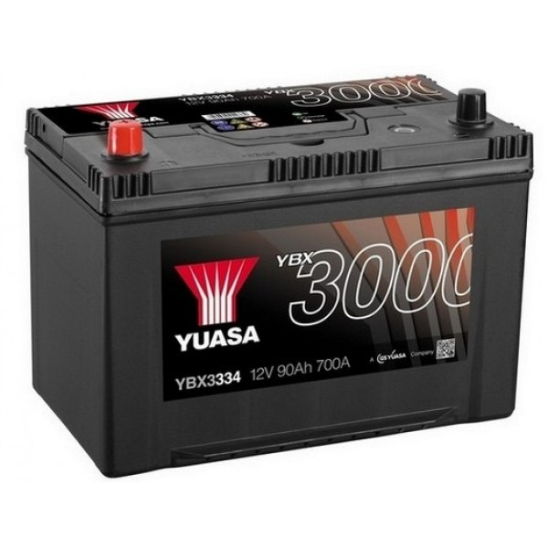 YUASA YBX3334 90Ah 700A SMF  1(+ -) 303x174x222