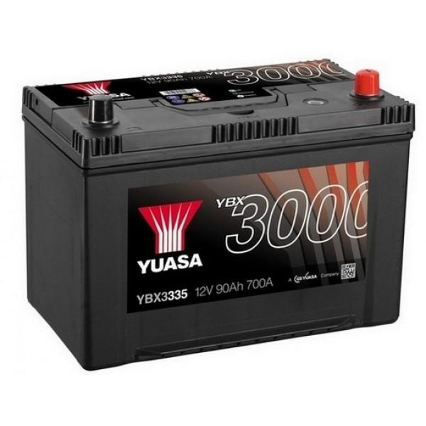 YUASA YBX3335 90Ah 700A SMF  0(- +) 303x174x222