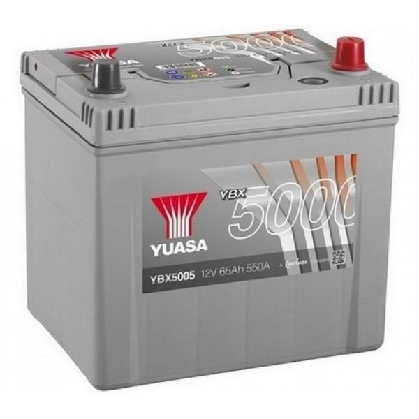 YUASA YBX5005 65Ah 550A Silver High Performance  0(- +) 232x175x225
