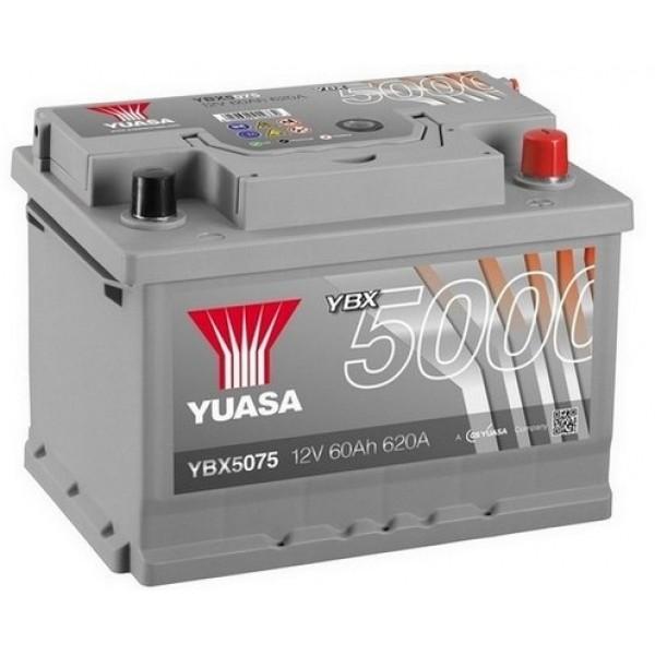 YUASA YBX5075 60Ah 620A Silver High Performance  0(- +) 243x175x175