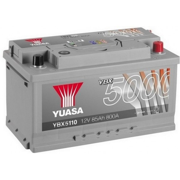 YUASA YBX5110 85Ah 800A Silver High Performance  0(- +) 317x175x175
