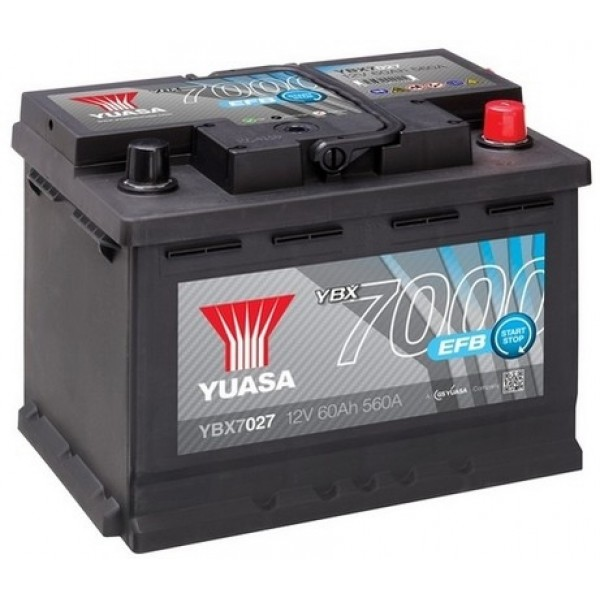 YUASA YBX7027 60Ah 560A EFB Start Stop  0(- +) 242x175x190