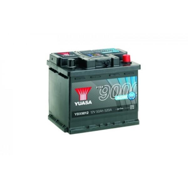 YUASA YBX9012 50Ah 520A AGM Start Stop Plus  0(- +) 207x175x190