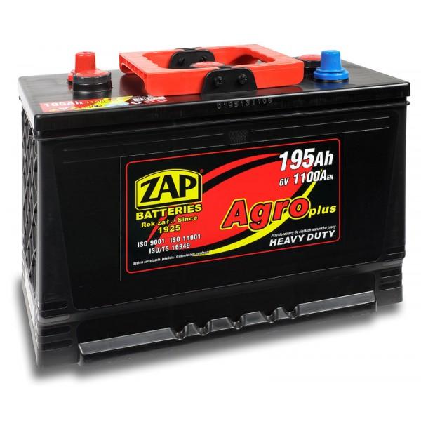 ZAP 195 17 Agro Heavy Duty 195 Ah 950 A O(- +) 334x175x213/240