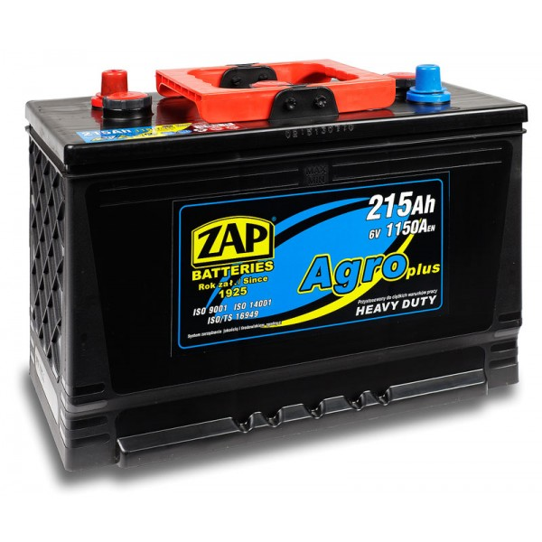ZAP 215 17 Agro Heavy Duty 215 Ah 1150 A O(- +) 334x175x213/240