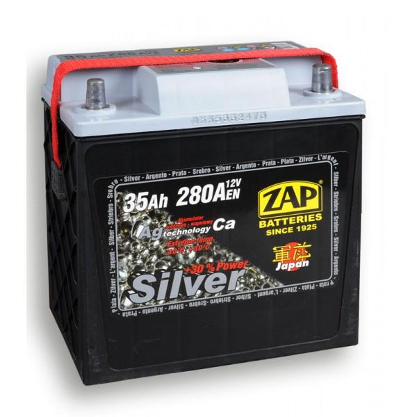 ZAP 535 70 SILVER JAPAN 35 Ah 280 A O(- +) 197x127x203