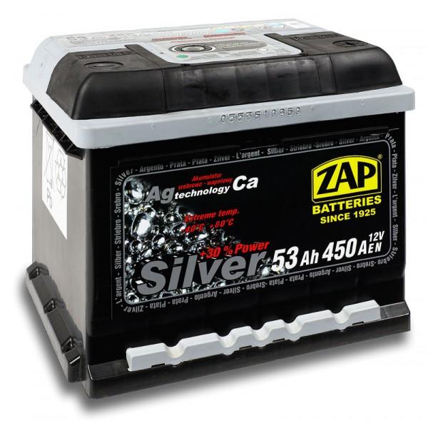ZAP 553 25 SILVER 53 Ah 450 A O(- +) 205x175x175