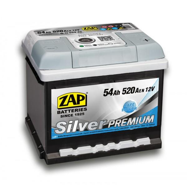 ZAP 554 45 Silver Premium  54 Ah 520 A O(- +) 205x175x175