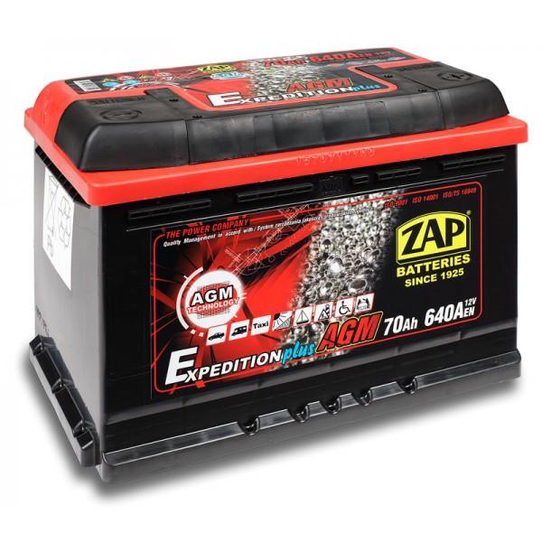 ZAP 570 01 Expedition AGM 70 Ah 640 A O(- +) 275x175x190